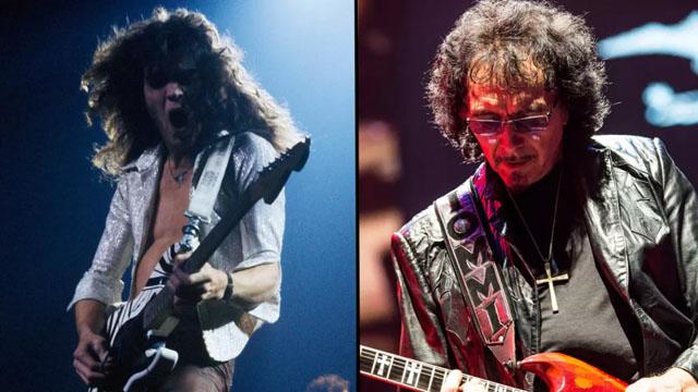 Tony Iommi and Eddie Van Halen (Image credit: Fin Costello/Redferns : Brill/ullstein bild via Getty Images)