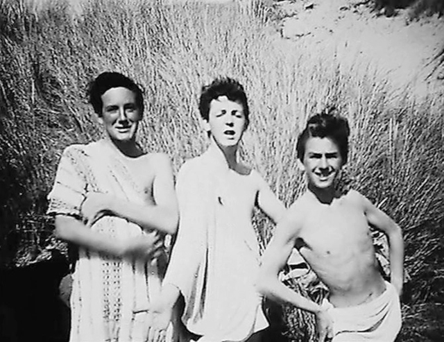 Paul McCartney (centre) with George Harrison (right) and a pal on a visit to HarlechCredit: PA