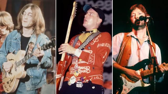 John Lennon, Rick Nielsen, Eric Clapton (Image credit: Getty Images)