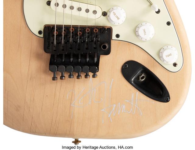 Kirk Hammett's ESP 400 Series Natural Solid Body Electric Guitar, Serial # 03879 Used in the Metallica 'One' Music Video....