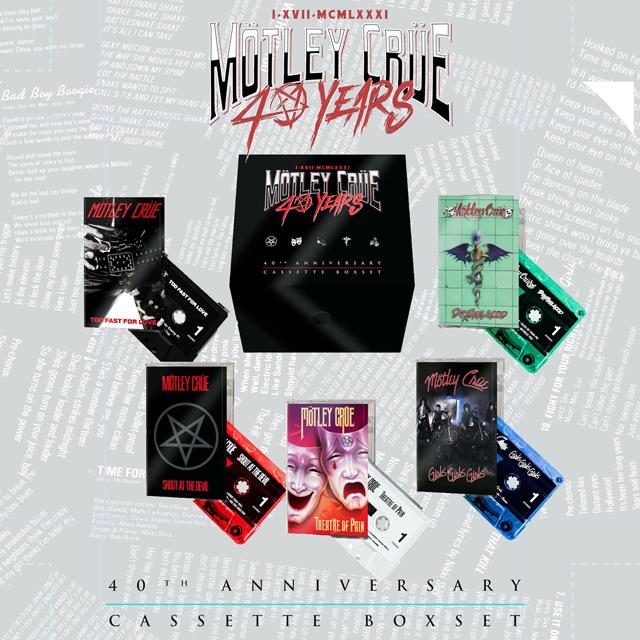 Mötley Crüe / 40th Anniversary Cassette Box Set