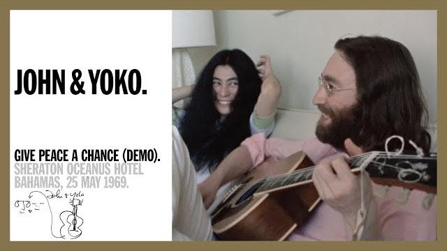 Give Peace A Chance (demo) - John & Yoko, Sheraton Oceanus Hotel, 1969 (5K Music Video)