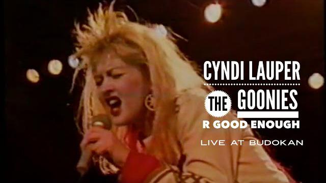 "Cyndi Lauper – ""The Goonies 'R' Good Enough"" (live at Budokan Hall)"