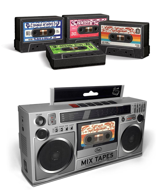 Fred - MIX TAPES - CASSETTE SPONGES