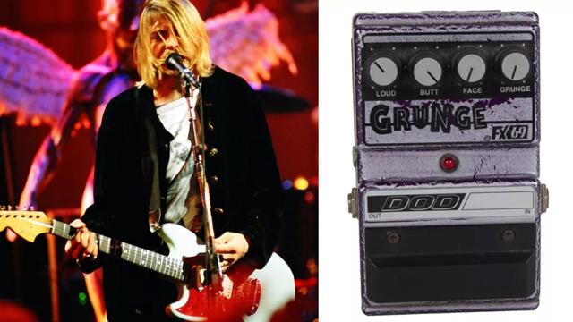 Kurt Cobain's stage-played DOD Grunge pedal (Image credit: Jeff Kravitz/FilmMagic / Julien's Auctions)