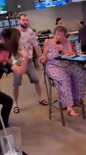 Metal Grandma Sings Rob Zombie's 'Dragula' at Karaoke