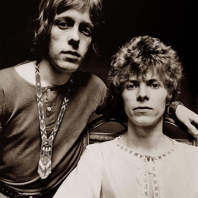 David Bowie and John 'Hutch' Hutchinson