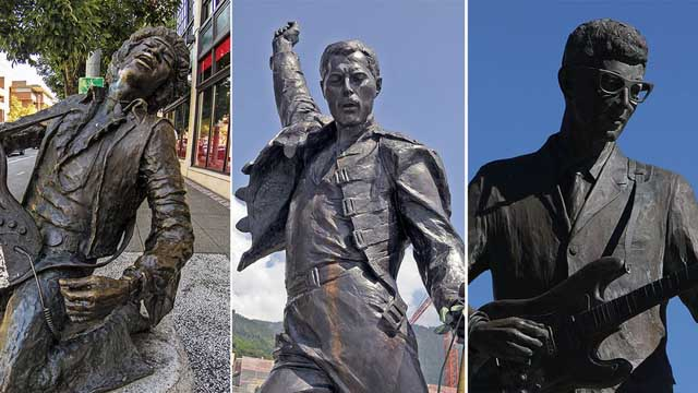 21 rock legends immortalised as statues © Getty