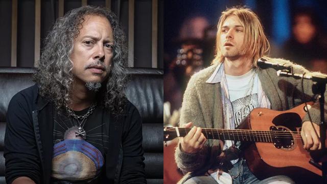 Kirk Hammett, Kurt Cobain (Image credit: Future/Frank Micelotta Archive/Getty Images)