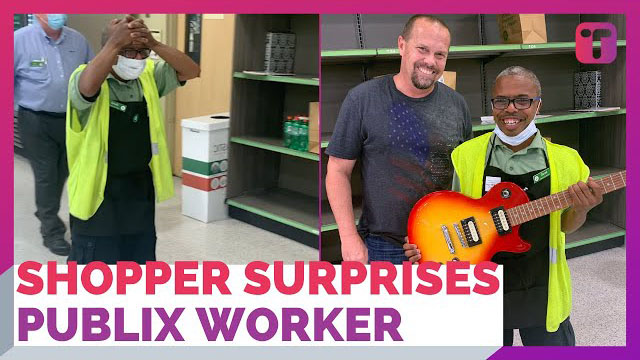 Shopper Surprises Grocery Store Worker With Dream Guitar