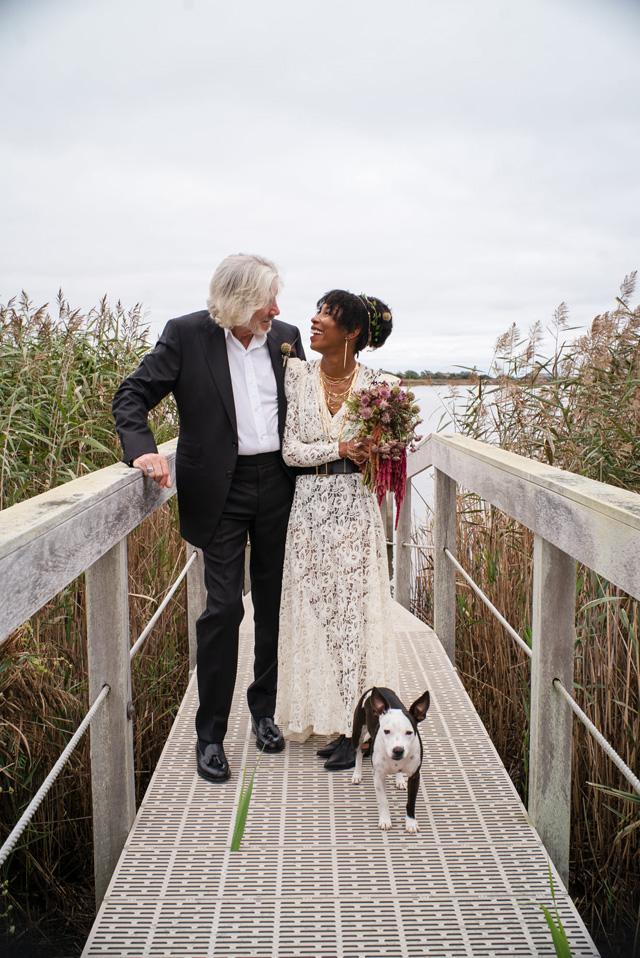 Roger Waters and Kamilah Chavis